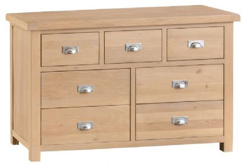 Oxford Oak 3 Over 4 Drawer Wide Chest